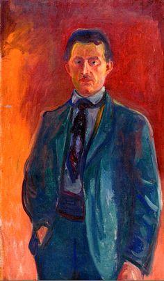 Self-Portrait against Red Background  Edvard Munch - 1906