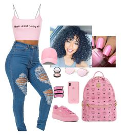 Untitled #85 by khaciah on Polyvore featuring polyvore fashion style Puma MCM Forever 21 Kate Spade clothing