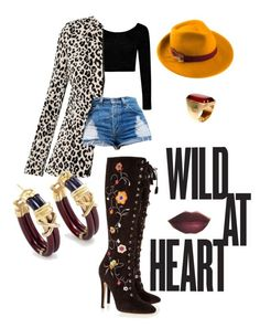 """Wild at Heart!"" by charmegrant on Polyvore featuring Boohoo, Jimmy Choo, Mademoiselle Slassi, Emilio Pucci and Nouvelle Bague"