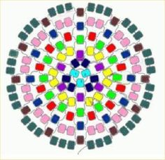 peyote circular patrones - Buscar con Google                                                                                                                                                                                 Más