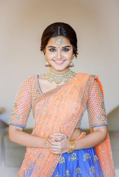 Anupama Parameshwaran in Issa for weddingvows.in magazine Photoshoot managed Half Saree Designs, Blouse Designs, Indian Dresses, Indian Outfits, Anupama Parameswaran, Tamil Actress Photos, Actress Pics, Most Beautiful Indian Actress, Indian Designer Wear