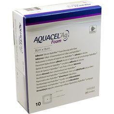 AQUACEL Ag Foam adhaesiv 8x8 cm Verband:   Packungsinhalt: 10 St Verband PZN: 08746532 Hersteller: ConvaTec (Germany) GmbH Preis: 103,33…