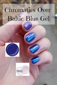 See how versatile our new Chromatics powder is over Baltic Blue Gel! #ontrend #aceofnails #chromenails #chrome #chromepowder #jamberry #manicure #prettynails #sahm