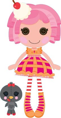 Lalaloopsy w MiniMini+ - sekcja z grami i zabawami dla najmłodszych Pale Pink Hair, Red And Pink, Blue Polka Dots, Red Stripes, Lalaloopsy Party, Pink Cheeks, Nick Jr, Cool Cards, Nursery Rhymes