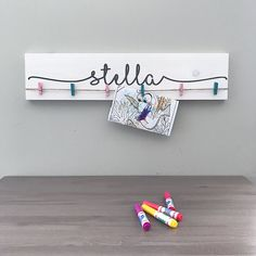 Look What I Made Sign | Personalized Name Nursery Decor | Kids Art Display Signs | Playroom Wall Art | Artwork Organization Sign by GrowandCompany on Etsy https://www.etsy.com/ca/listing/524772680/look-what-i-made-sign-personalized-name