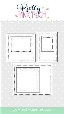 Stitched photo frames die
