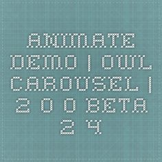 Animate Demo | Owl Carousel | 2.0.0-beta.2.4