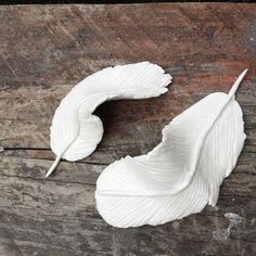 Veren van witte Action klei #Action Feather Art, White Clay, Diys, Action, Feathers, Fondant, Icing, How To Make, Crafts