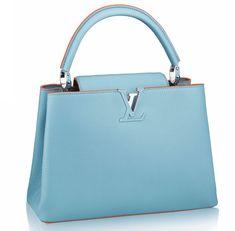 Louis Vuitton Capucines Mm Blue And Orange Bags Priceslouis