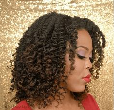 Try This Easy Twist & Curl w/ Perm Rods on natural hair for ultra defined curls. This style works best on every length of hair. Permed Hairstyles, Modern Hairstyles, Twist Hairstyles, Natural Hair Tutorials, Natural Hair Tips, Natural Hair Styles, Different Types Of Curls, Twist Curls, Really Long Hair
