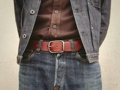 Hollows Leather — The Road - Standard Belt - Natural