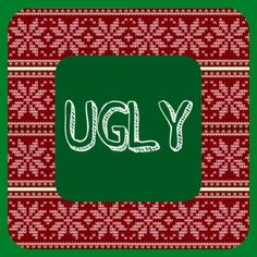 ae595ba44c Free printables for ugly tacky sweater party! Ugly Xmas Sweater