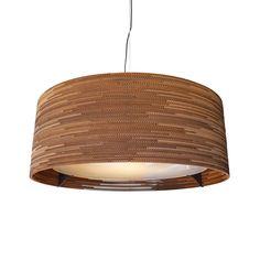 Graypants Drum Hanglamp gemaakt van karton