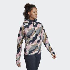 Chaqueta con capucha adidas Z. Pink Grey, Athletic, Zip, Jackets, Women, Fashion, Adidas Hoodie, Hooded Jacket, Hooded Sweatshirts