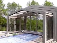Retractable Enclosures for Swim Spa by Covers in Play - YouTube
