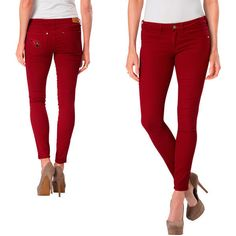Meesh & Mia New York Giants Women's Stretch Skinny Jeans - Red ...