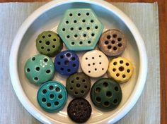 Weller Flower Frogs / Pair / Matte Yellow / Free by delovelyness Vintage Flowers, Vintage Floral, Vintage Art, Vintage Stuff, Pottery Vase, Ceramic Pottery, Flea Market Decorating, Vases, Vintage Gardening
