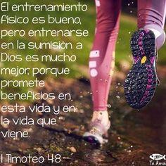 1 Timoteo 4:8 porque el ejercicio corporal para poco es provechoso, pero la piedad para todo aprovecha, pues tiene promesa de esta vida presente, y de la venidera.♔