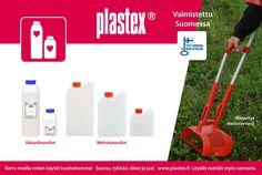 Plastexin Mehukkaisiin on hyvä ja turvallista säilöä mehuja! Made in Finland It's easy and safe to put your home made juice to Plastex bottles!