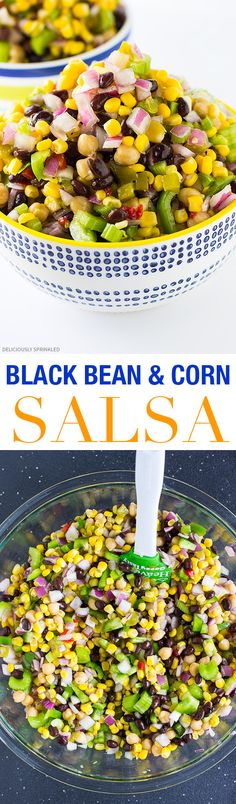 The BEST Black Bean and Corn Salsa