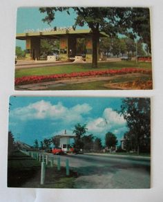 2 DIFFERENT VINTAGE THOUSAND ISLAND TOLL BOOTH 1000 ISLANDS NEW YORK NY
