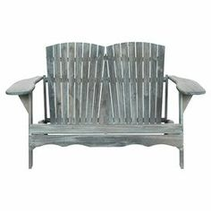 Acacia wood indoor/outdoor bench with scalloped details in ash grey.     Product: BenchConstruction Material: Acacia woodColor: Ash greyFeatures:  Scalloped detailsSuitable for indoor and outdoor use Dimensions: 34.6 H x 57.5 W x 37.4 D