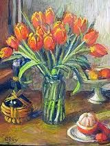 Australian artist Margaret Olley known for her indoors focus - objects, fruit and flowers