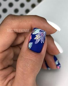 Pretty & Easy Gel Nail Designs to Copy in Trendy Gel Nails Designs Inspirations; almond gel n - Care - Skin care , beauty ideas and skin care tips Simple Gel Nails, Pretty Gel Nails, Cute Nails, Spring Nail Art, Nail Designs Spring, Spring Nails, Winter Nails, Summer Nails, Tropical Nail Designs