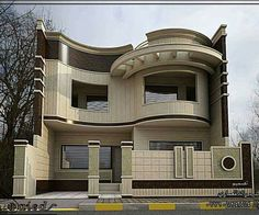 The exterior is the face of the house that everyone will see in the first part. Take a look at the world's most beautiful modern homes and find Classic House Design, Bungalow House Design, Small House Design, Modern House Design, Facade Design, Architecture Design, Architecture Definition, Online Architecture, Computer Architecture