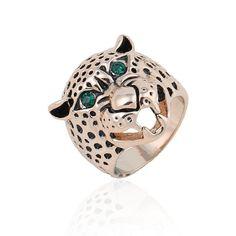 Леопард кольцо - горячая распродажа мода преувеличены личности панк леопарда безымянный палец кольца для мужского мужчин животных 1585675