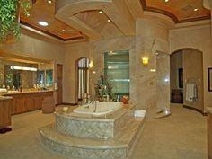 30 Celebrity Bathrooms (Pics) - Inside Celebrity Homes - Inside Celebrity Homes, Celebrity Houses, Celebrity Photos, Dream Bathrooms, Beautiful Bathrooms, Luxury Bathrooms, Home Design, Design Ideas, Minimalist Bathroom Design