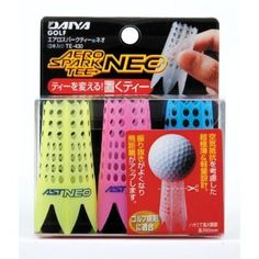 Aero Spark Golf Tees Winter Golf Tees Assorted Colors by Daiya. $6.99. Golf tees affect flying distance. Allows for low resistance on impact and easy swing through. Flexible body allows tee to stay in the ground without breaking. Imported from Japan. Height adjustable by using scissors. Max height just over 2 inches. Is not pushed down - use during winter!