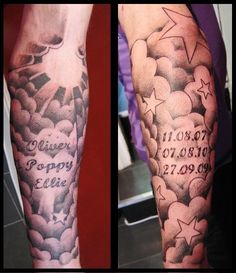 Cloud Tattoos Meanings & Uses | InkDoneRight Clouds are a universal symbol of inner peace, compassion, freedom, and harmony. Cloud tattoos have all kinds of meanings, uses, and illustrative styles...