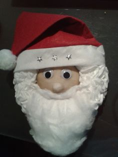 Weihnachtsmann aus Styroporkranz handmade by Rosi Christ