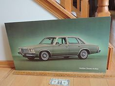 Vtg 1979 malibu #classic #sedan chevy #chevrolet dealership showroom sign poster,  View more on the LINK: http://www.zeppy.io/product/gb/2/391562285517/