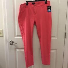 Coral Ponte King pant Ponte knit pant in Coral. Labeled a 2x but would best fit a 1x. Faux pockets in front and two pockets in back. NWT Zenobia Pants