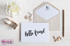 Silhouette Saturday! Hand-Lettered Phrases and Gift Tag FREE Silhouette Cut File (with option for commercial use!) | bydawnnicole.com