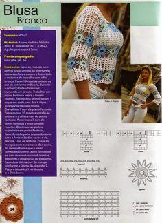 Inspirações de Croche com Any Lucy: Blusas Para o Verão