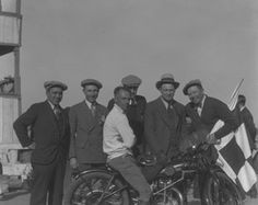 Motorcycle racing at the Kern County Fair Association Race Track, 11-30-1930