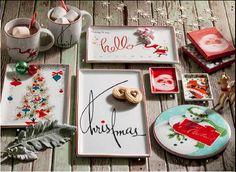 Vintage Christmas Plates from @Rosanna Inc.