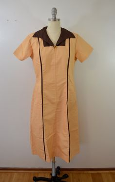 Vintage 1960's WAITRESS or UNIFORM dress Size 38 Made in USA Halloween Costume by ilovevintagestuff on Etsy