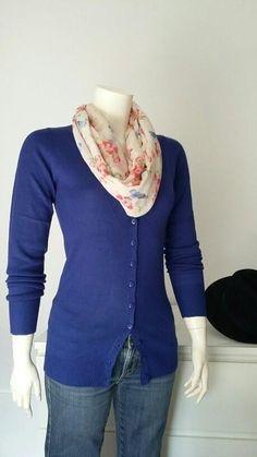 Rebeca lana Shana azul klein nueva T-s Lana, Sweaters, Fashion, Knit Cardigan, Sweatshirts, Woman Clothing, Blue Nails, Women, Moda