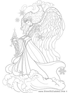 Enchanted Designs Fairy & Mermaid Blog: Free Fairy Fantasy Coloring Pages by Phee McFaddell