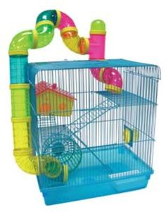 Large Hamster Cage for my grandchild Hershey, lol. (Finally got one, not this exact one, but a cool one) Large Hamster Cages, Dwarf Hamster Cages, Hamster House, Hamster Names, Hamsters As Pets, Hamster Stuff, Rodents, Robo Hamster, Gerbil