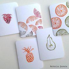 Fruit medley block printing