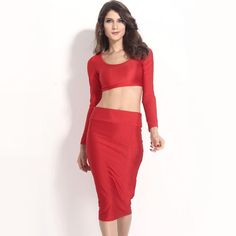 f31f371a43 Kim Kardashian Inspired 2 piece pencil skirt and crop top