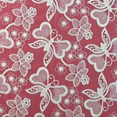 Popular fashion European root yarn transparent fabric embroidery cotto – fabric shoping Butterfly Embroidery, Embroidery Fabric, Embroidery Patterns, Cotton Thread, Mesh Fabric, Home Textile, Textiles, Popular, Color