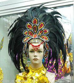 Da NeeNa Hryb Feather Cabaret Showgirl Samba Headdress   eBay