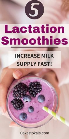 Lactation Smoothie recipes to help breastfeeding moms increase milk supply. Easy and healthy breastfeeding smoothies. #lactation #breastfeeding #smoothies Breastfeeding Smoothie, Breastfeeding Help, Keto Recipes, Snack Recipes, Healthy Recipes, Lactation Smoothie, Increase Milk Supply, Best Food Ever, Breakfast Smoothies