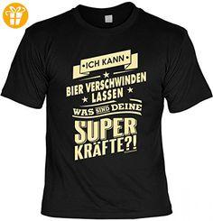 Funshirt - Kann Bier verschwinden lassen - Deine Superkräfte? - lustiges T-Shirt inkl. Urkunde Geschenk Set zum Geburtstag, Größe:3XL (*Partner-Link)
